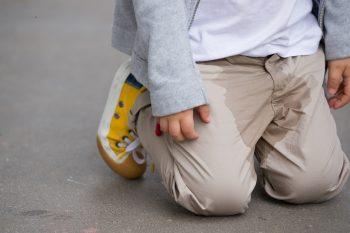 little boy who peed his pants